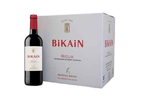 Vino tinto DOC Rioja 2020 Bikain (Caja 12 botellas de 0,75cl)