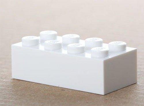 LEGO 100x white Basic Brick 2x4 (3001) New