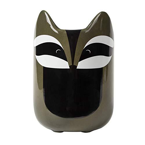 el & groove 3D Waschbär Tasse in grau, Tee-Tasse 350 ml (400 ml randvoll) aus Porzellan, süße Kaffee-Tasse, Racoon Mug, Deko Becher, Geschenk Weihnacht, Geschenk für Frauen