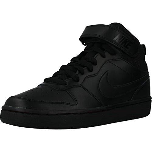 Nike Unisex Kinder Court Borough MID 2 (GS) Straßen-Laufschuh, Black/Black-Black, 38.5 EU