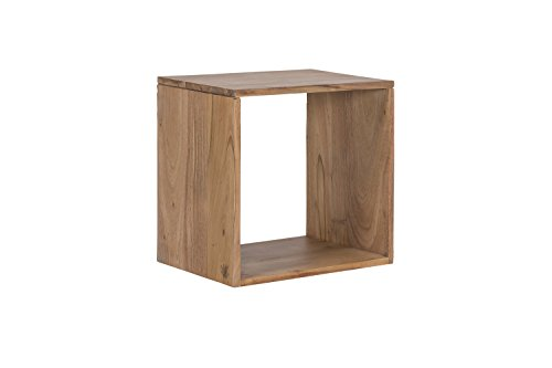 Woodkings® Wandregal Auckland Cube aus massiv Holz, Würfel, Holzmöbel, Regalsystem, Wohnwand Modul, Holzregal, Wanddekoration Holz Regal (Holz - Akazie)