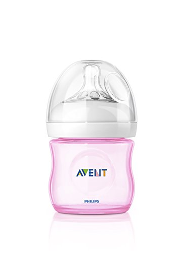 Philips Avent SCF691/17 Biberon Natural Anticoliche per Allattare in Modo Naturale, 125 ml, Rosa