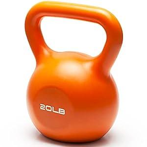 kettlebell Weight Sets Strength Training Kettlebells Vinyl Coated Exercise Kettlebell Weights Set for Women, Kettle Bal Training Equipment Workout Free Weights Kettlebell Set for Home Gyms - 20lbs by Miroddi