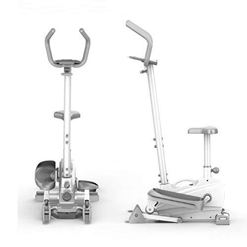 QinWenYan Máquina de Entrenamiento Elíptica 2-en-1 elíptica de la Bicicleta estática-Fitness Cardio Pérdida de Peso Entrenamiento Máquina for el hogar para Deportes (Color : White, Size : Free Size)