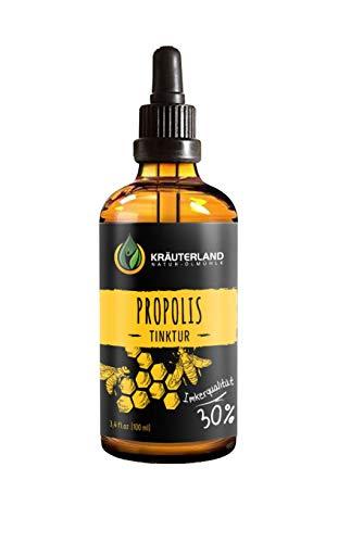Kräuterland - Propolis Tinktur 30% 100ml - aus natürlichem Propolis Extrakt, ca. 98% Reinpropolis - Bienenharz in Imker-Qualität