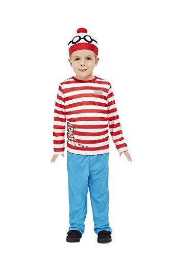Smiffy's Smiffys Officially Licensed Where's Wally Costume Smiffys - Disfraz oficial de Dónde está Wally Niños