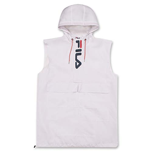 Big and Tall Windbreaker Jackets For Men - Sleeveless Anorak Hoodies for Men White 3X