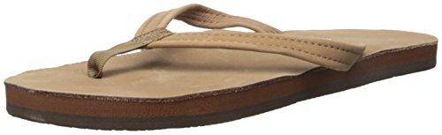 Rainbow Rainbow Sandals Women's Premier Leather Single Layer Narrow Dark Brown Size Large / 7.5-8.5 B(M) US