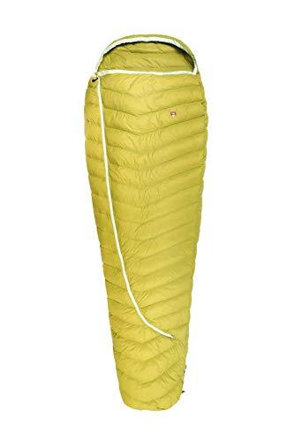 Grüezi bag Biopod DownWool Extreme Light 185, Körpergröße 165-185cm, 500g, ca. 12°C bis -4°C, Sommerschlafsack, herausragendes Schlafklima, Warm Olive