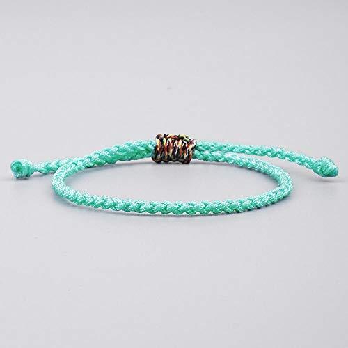 Bracelets Pour Femme,King Kong Tressé À La Main Bracelet Noeud Vert Menthe Amour Bouddhiste Tibétain Bracelets De Corde Rouge Chanceux Pour La Femme Unisexe Bracelets Pour Tous Les Jours, L'Élève