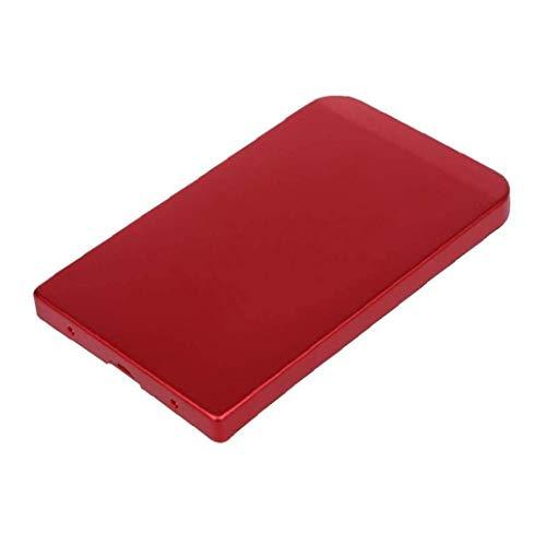 xiaocheng USB 2.0 Caja Externa Caja Móvil del Disco Duro De Aleación De Aluminio del Recinto Portátil Hardisk Cuadro Rojo Portátiles Accesorios Electrónicos