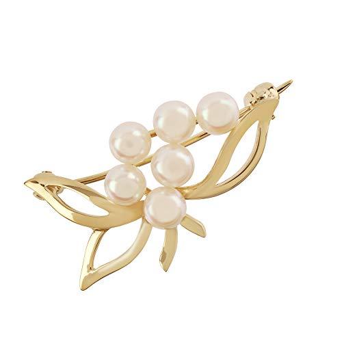 Too Marvellous Fancy - Broche de Perlas cultivadas en Oro Amarillo de 9 Quilates