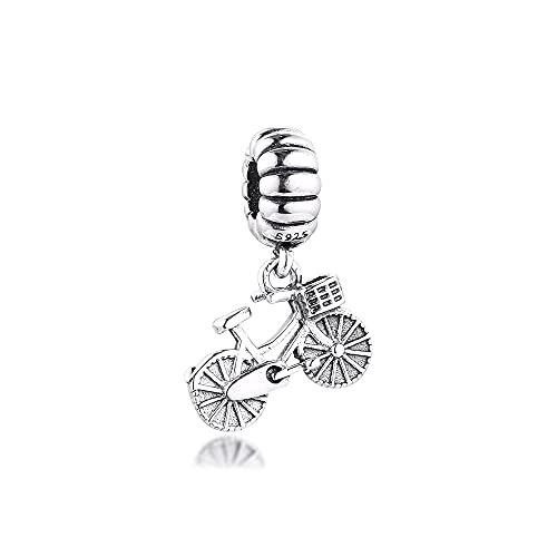 Pandora 925 Sterling Silber Fahrradanhänger Charms Original Frauen Perlen für Making diy Love Schmuck