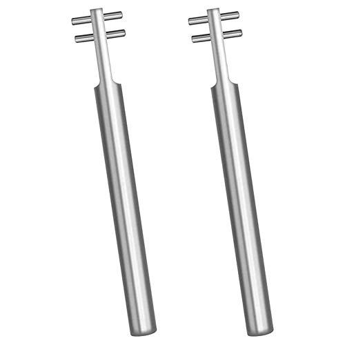 XIAOFANG 2 PC versilbert Einstellen Saxophon Schlüssel-Schlüssel-Abdeckung Stahl Schlagfestigkeit Spanner Musikinstrumente Zubehör (Color : Silver)