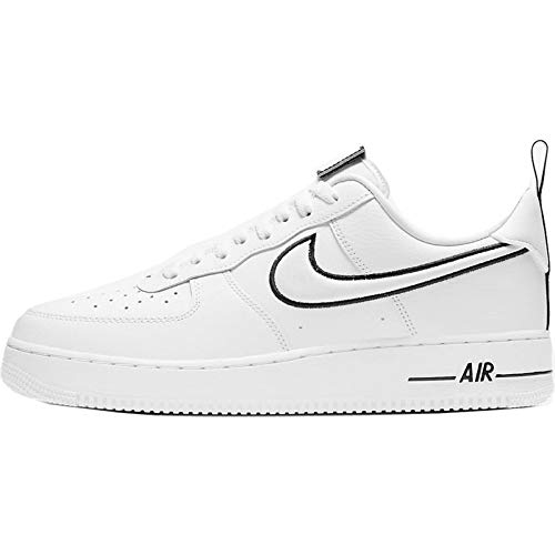 Nike Herren AIR Force 1 Basketballschuh, White White Black, 41 EU