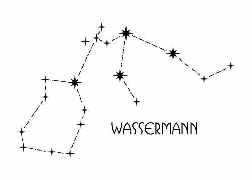 Wandtattooladen Wandtattoo - Sternbild - Wassermann Größe:110x67cm Farbe: Schablone