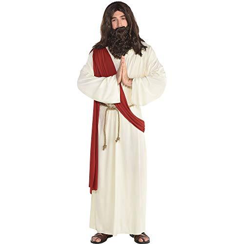 amscan Herren Kostüm Heiliger Gott Jesus Deluxe inkl. Perücke und Bart Gr. M/L Fasching