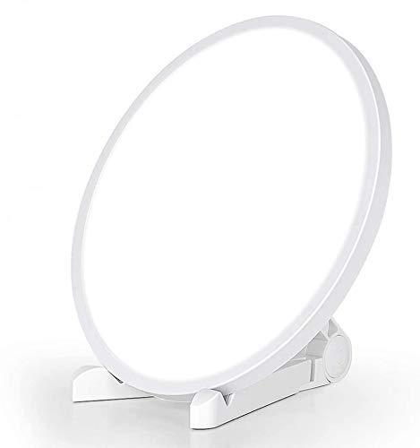 Tageslichtlampe 10000 Lux Relassy LED Lichttherapielampe mit 3 Timer, 4 Helligkeitsstufen, 3 Lichtfarben Lichtdusche LED Sonnenlicht Verbessert die Stimmung