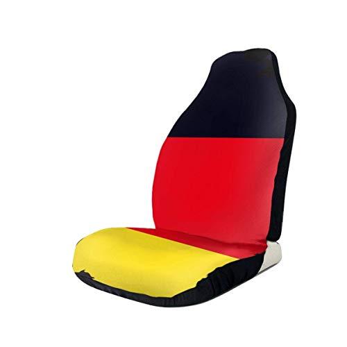 Little Yi Deutsche Flagge auf detaillierter Deutschlandkarte Friedenszeichen Autositzbezüge Sitzschutz Passend für die meisten Autos
