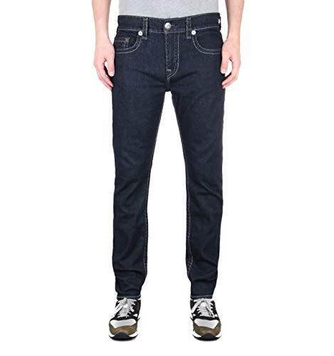 True Religion Rocco Relaxed Skinny No Flap Body Rinse Black Denim Jeans