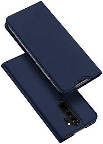 DUX DUCIS Funda Redmi Note 8 Pro, PU Cuero Flip Carcasa Fundas Móvil de Tapa Libro para Xiaomi Redmi Note 8 Pro (Azul Marino)