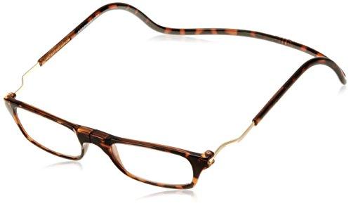 [クリックリーダー] 老眼鏡 CliC Expandable メンズ ダークデミ 日本 +1.50-(日本サイズM相当)