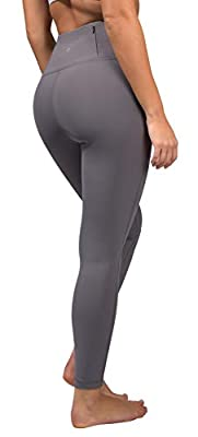 90 Degree By Reflex Squat Proof Tummy Control 7/8 Length Leggings with Back Zipper Pocket - Evening Shadow - XL