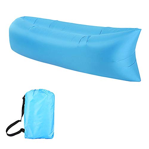 Sofa Hinchable Anti-Air Leaking Sofa Inflable Impermeable Tumbona Hinchable de Playa con el Paquete Portable para Viajar, Acampar, Jardín, Senderismo, Piscina y Partidos de la Playa