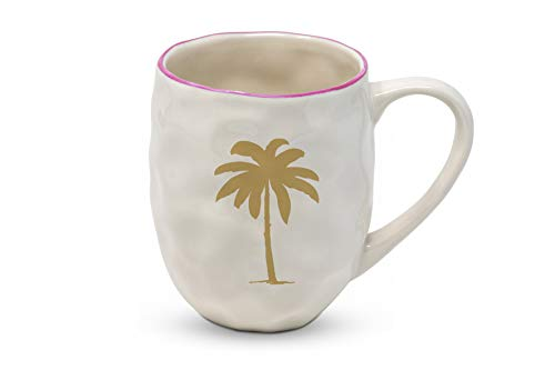 Home Collection Cuisine Vaisselle Accessoires Mug Grande Tasse Café Américain Motif Flamant Palme d'or