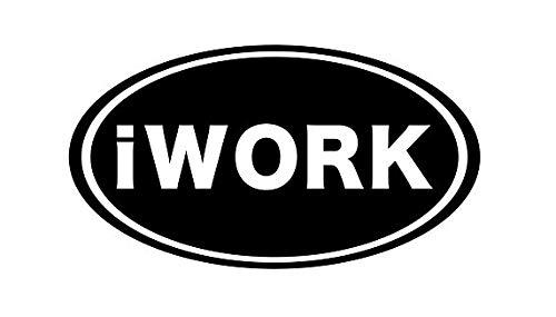 CCI iWork Apple Office Suite iOS Application Decal Vinyl Sticker Cars Trucks Vans Walls Laptop Black 5.5 x 3.0 in CCI2051
