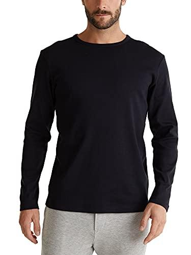 Esprit 990ee2k309 T-Shirt À Manches Longues, Noir (Black 001), Medium Homme