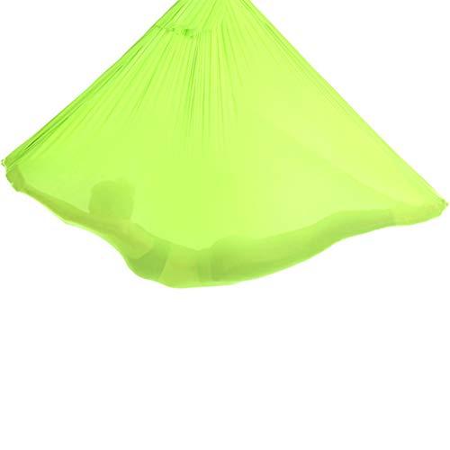 LHHL Hamaca para Aeroyoga Columpio Resistente De Nylon Color Azul Hamaca De Yoga Accesorio De Entrenamiento De Fitness Pilates Silk Yoga (Color : Grass Green, Size : 500x280cm/197x110in)