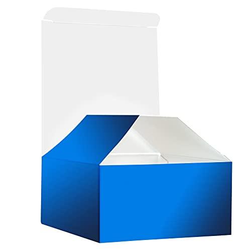 RUSPEPA Scatola Regalo Scatola di Cartone con Coperchi per Bracciali, Gioielli E Piccoli Regali - 10,5 X 10,5 X 5,2 cm - Confezione da 30 - Blu Opaco