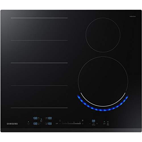 Samsung NZ64N9777BK/E1 60 cm autarkes Induktionskochfeld 60 cm mit Virtual Flame, FlexZone Plus, Touch Control, Quick Start, 15 Leistungsstufen + Power Boost