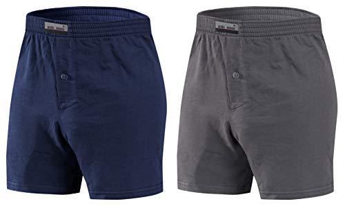 Sesto Senso Pantaloncini Pigiama Uomo Corti Shorts Cotone Quadri Semplice 3XL 2pak g+g