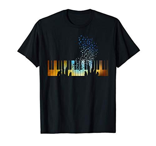 Hände auf Klavier Tastatur Geschenk für Musik Lehrer Shirt T-Shirt