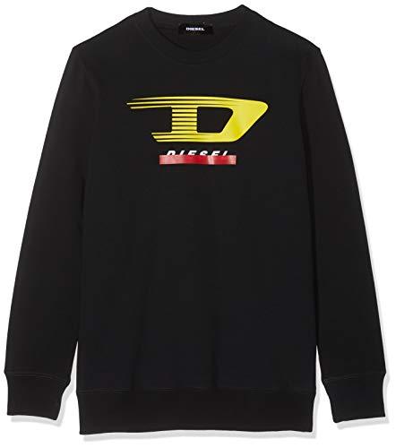 Diesel Herren S-Gir-Y4 Sweat-Shirt Sweatshirt, Schwarz (Black 900), Large (Herstellergröße: L)