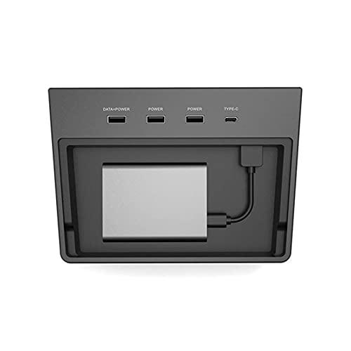 HAOFANG Beibei Grocery Store Ajuste para Tesla Modelo 3 Tipo C Pad Conector Conector Multi USB HUB 5 Puertos SSD Disco Coche Interior Center Console Kit accessorie (Color : Army Green)