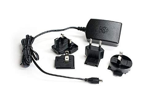 Raspberry Offizielles Pi 3 Netzteil schwarz - 2,5A/5V