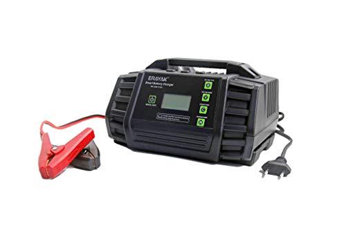 ERAYAK Savior de 12 amperios Cargador de batería de Coche, Cargador de batería de Coche Inteligente de 12 V / 24 V, Cargador Lento y desulfatador con compensación automática de Temperatura