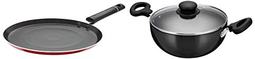 Amazon Brand - Solimo Non Stick Tawa (26cm, Induction and Gas Stove Compatible)
