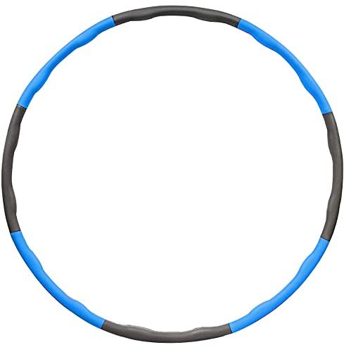 BENEFAST Hula Hoop für Erwachsene und Kinder, zur Gewichtsreduktion und Massage, Schaumfüllung, Hula Hoop für Männer und Frauen, Abnehmbarer Hula Hoop Fitness Ring mit 8 Wellenzonen