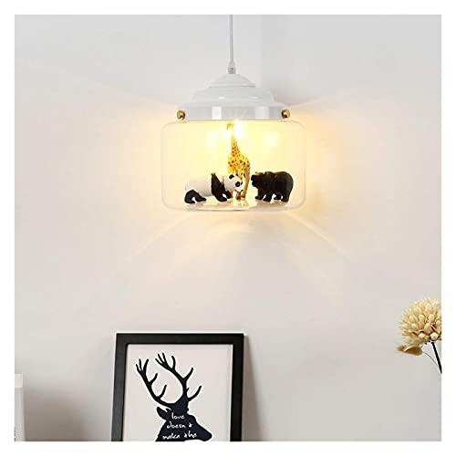 nakw88 Lámpara de Techo Moderna Personalidad Minimalista Creativa Lámpara de Cristal Dormitorio Bar Habitación Infantil Lámpara de Caricatura 5m2-10m2 (Color : Negro) (Color : White)