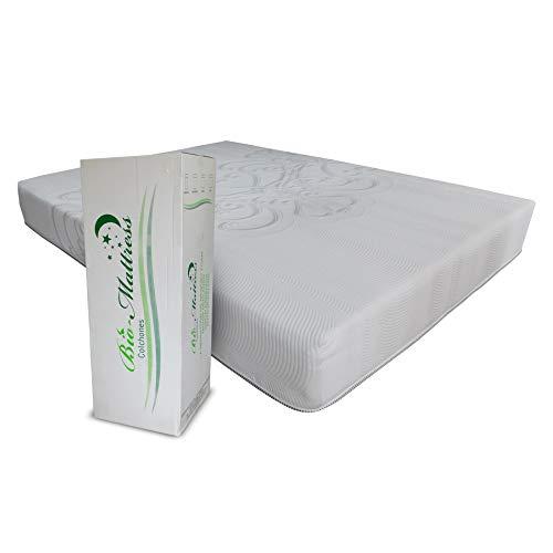 Colchón Memory Foam Bio Mattress   Modelo Royale Individual   Espumas con certificación CertiPur para Máximo Confort   Entrega en caja con 5 Años de Garantía