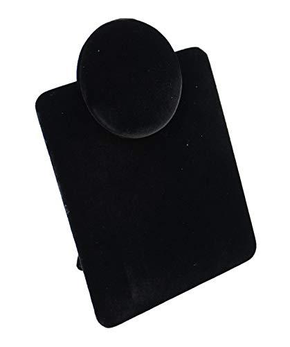Collar de terciopelo negro plegable, colgante, cadena de tienda, mostrador, soporte de...