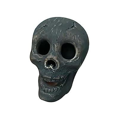Simulation Skull Wood Fire Bonfire Fireplace Burning Horror Atmosphere Props Simulation Skull Bonfire Fireplace Burning Horror Atmosphere Props 2 Pack by VAISA