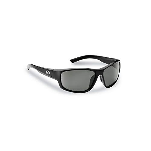 Flying Fisherman 7822BS Teaser Gafas de sol polarizadas, marco negro mate, lente ahumada