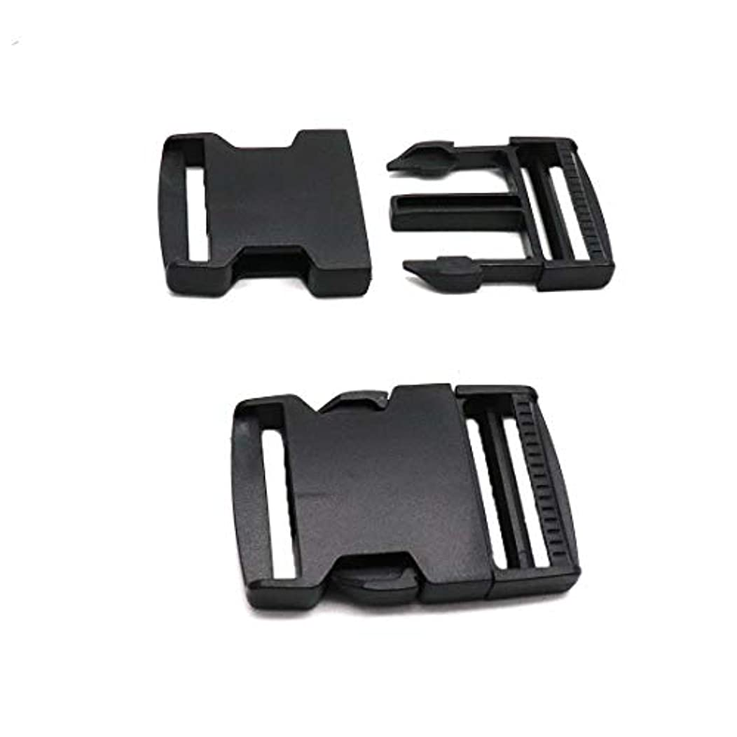 ZXHAO Black Plastic Packbag Side Quick Release Buckle Fit Strap Width 3.8cm/1.5 inch for Backpack Repairing 15pcs (0001)