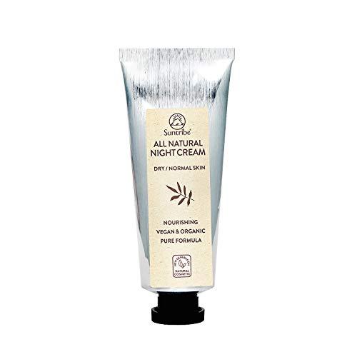 Crema da Giorno Minerale FPS 20 Suntribe - 100% Naturale, Biologica & Vegana - Mandorla & Jojoba - Filtro UV Minerale (Ossido de Zinco Senza Nanoparticelle) - 9 Ingredienti - Pelle Normale / Sensibile / Secca (40 ml)