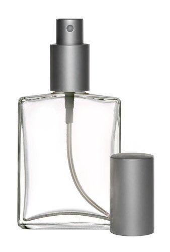 Riverrun Large Perfume Cologne Atomizer Empty Refillable Glass Bottle Matte Silver Sprayer 3.4 oz 100ml (1 Bottle)